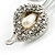 Clear Crystal Calla Lily Brooch - view 6