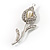 Clear Crystal Calla Lily Brooch - view 8