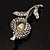 Clear Crystal Calla Lily Brooch - view 4