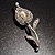 Clear Crystal Calla Lily Brooch - view 2