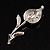 Clear Crystal Calla Lily Brooch - view 7