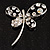 Stylish Crystal Butterfly Brooch - view 3