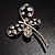 Stylish Crystal Butterfly Brooch - view 2