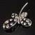 Stylish Crystal Butterfly Brooch - view 9