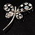 Stylish Crystal Butterfly Brooch - view 5