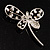 Stylish Crystal Butterfly Brooch - view 7