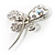 Stylish Crystal Butterfly Brooch - view 8