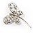 Stylish Crystal Butterfly Brooch - view 4