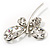 Stylish Crystal Butterfly Brooch - view 6