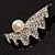 Crystal Shell Faux Pearl Fashion Brooch - view 7