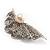 Crystal Shell Faux Pearl Fashion Brooch - view 5
