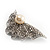 Crystal Shell Faux Pearl Fashion Brooch - view 9