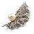 Crystal Shell Faux Pearl Fashion Brooch - view 8