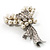 Elegant Imitation Pearl Crystal Butterfly Brooch - view 9