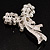 Elegant Imitation Pearl Crystal Butterfly Brooch - view 6
