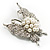 Exquisite Imitation Pearl Crystal Butterfly Brooch - view 4