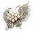Exquisite Imitation Pearl Crystal Butterfly Brooch - view 9