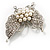 Exquisite Imitation Pearl Crystal Butterfly Brooch - view 5