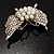 Exquisite Imitation Pearl Crystal Butterfly Brooch - view 11