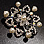 Rhodium Plated Faux Pearl Crystal Snowflake Brooch - view 5