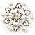 Rhodium Plated Faux Pearl Crystal Snowflake Brooch - view 2