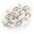 Rhodium Plated Faux Pearl Crystal Snowflake Brooch - view 8