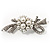 Snow White Imitation Pearl Bow Brooch - view 9