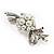Snow White Imitation Pearl Bow Brooch - view 8