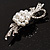 Snow White Imitation Pearl Bow Brooch - view 7