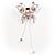Pink Crystal Butterfly With Dangling Tail Brooch - view 10