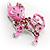 Pink Crystal Enamel Cat Brooch - view 8