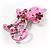Pink Crystal Enamel Cat Brooch - view 2