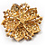 Victorian Corsage Flower Brooch (Amber Coloured) - view 7