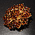 Victorian Corsage Flower Brooch (Amber Coloured) - view 4