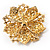 Victorian Corsage Flower Brooch (Clear) - view 7