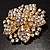 Victorian Corsage Flower Brooch (Clear) - view 3