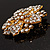 Victorian Corsage Flower Brooch (Clear) - view 5
