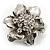 Tiny Crystal Flower Pin Brooch