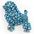 Gigantic Blue Crystal Poodle Dog Brooch