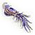 Gigantic Purple Enamel Peacock Fashion Brooch - view 9