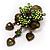 Grandma's Heirloom Charm Brooch (Grass Green&Olive) - view 2