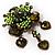 Grandma's Heirloom Charm Brooch (Grass Green&Olive) - view 3