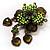 Grandma's Heirloom Charm Brooch (Grass Green&Olive) - view 8