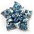 3D Enamel Crystal Flower Brooch (Blue&Sky Blue)