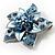 3D Enamel Crystal Flower Brooch (Blue&Sky Blue) - view 7