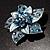 3D Enamel Crystal Flower Brooch (Blue&Sky Blue) - view 4