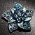 3D Enamel Crystal Flower Brooch (Blue&Sky Blue) - view 2