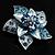 3D Enamel Crystal Flower Brooch (Blue&Sky Blue) - view 8
