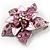 3D Enamel Crystal Flower Brooch (Pink) - view 10