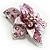 3D Enamel Crystal Flower Brooch (Pink) - view 3